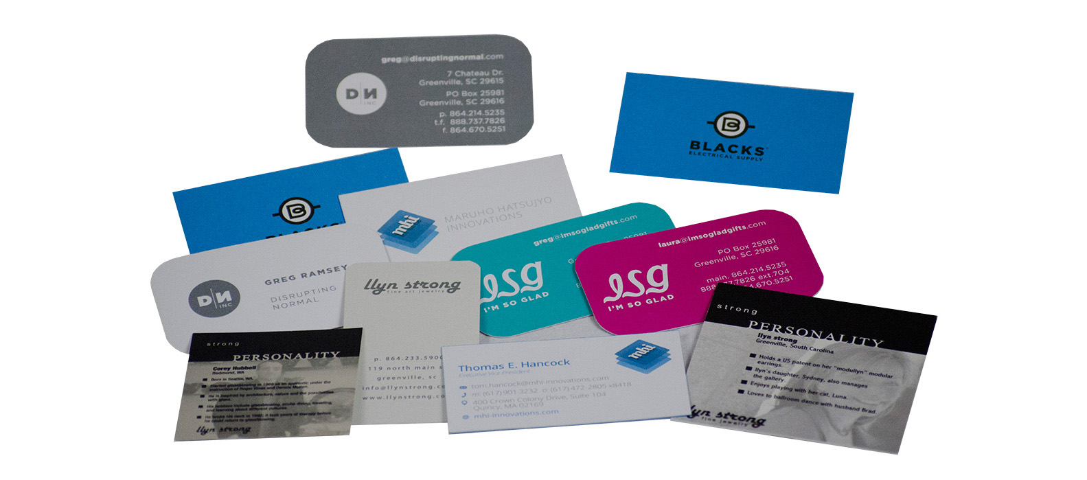 Custom Business Card Printing | Spartanburg SC | Ink4